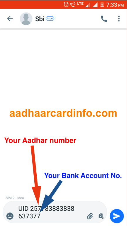 Link AADHAAR Card to SBI Bank